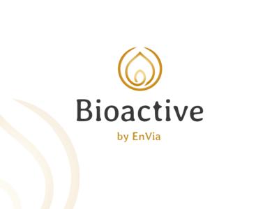 Bioactive logo brand design logotype beauty care cosmetic branding luxury gold nature medical logo