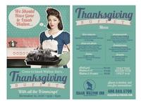 Izaak Walton thanksgiving table tent