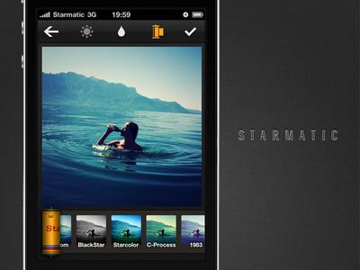 Starmatic filters screen