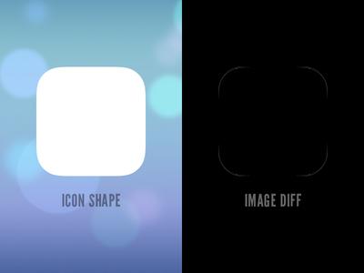 iOS 7 icon shape (PSD)