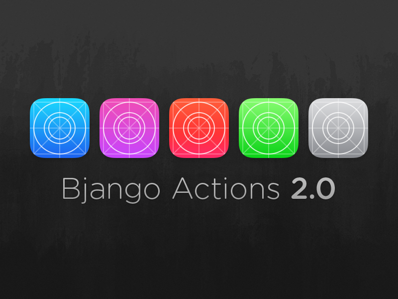 Bjango Actions 2.0 (PSDs + Actions) photoshop psd actions workflow ios iphone ipad android icon icons