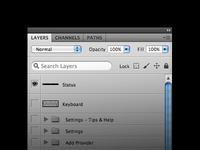 Photoshop layers palette mock