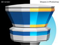 Process render vs shapes
