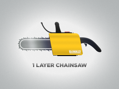 1 Layer Chainsaw psd vector photoshop 1 layer one layer chainsaw