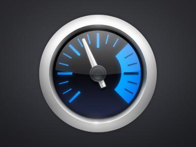 iStat Menus icon icon istat mac blue os x black silver circle
