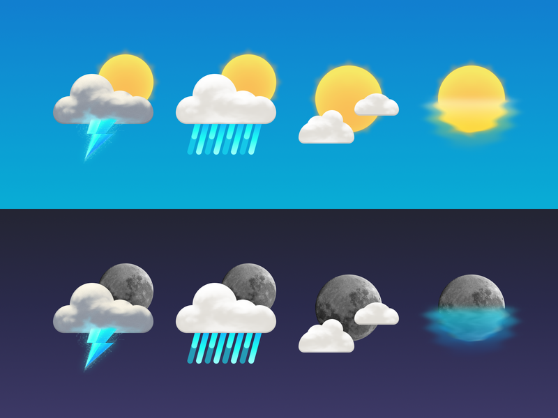 Weather icons cloud storm istat menus weather icons sun moon clouds