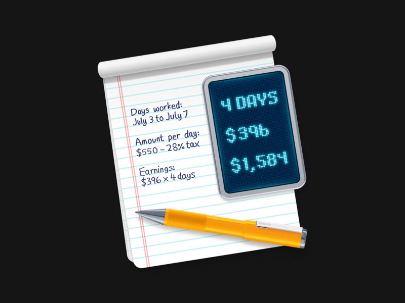 Soulver 3 app icon pencil pad pen calculator macos mac icon app