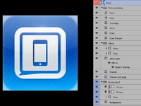 Imore app icon layers