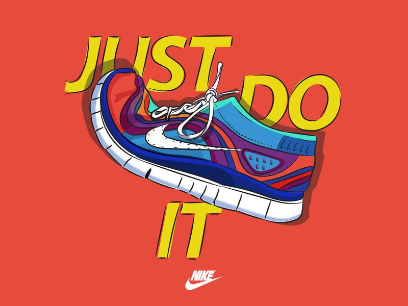 e261dd509 Nike Just Do It design graphic design nike running nike branding vector digital  art illustration vector