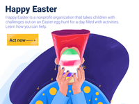 Happy Easter Website Illustration