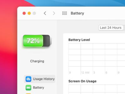 Mac OS Big Sur Battery Icon skeuomorphism skeuomorphic icon mac os big sur