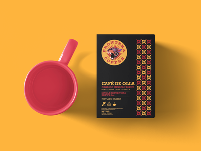 Frontera Coffee - Mockup typography identity illustration screen print print design mexican art vector minimal mockup packaging