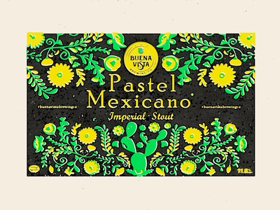 Pastel Mexicano-  Label (WIP) branding flat logo screen print typography vector mexican art illustration craftbeer stout screenprint beerlabel