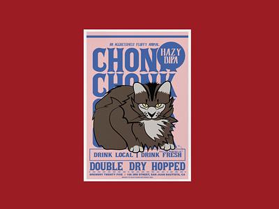 Chonk Hazy DIPA Poster screen print poster print branding screen print illustration design mexican art minimal typography vector