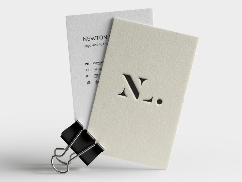 n l monogram business card by newton llorente