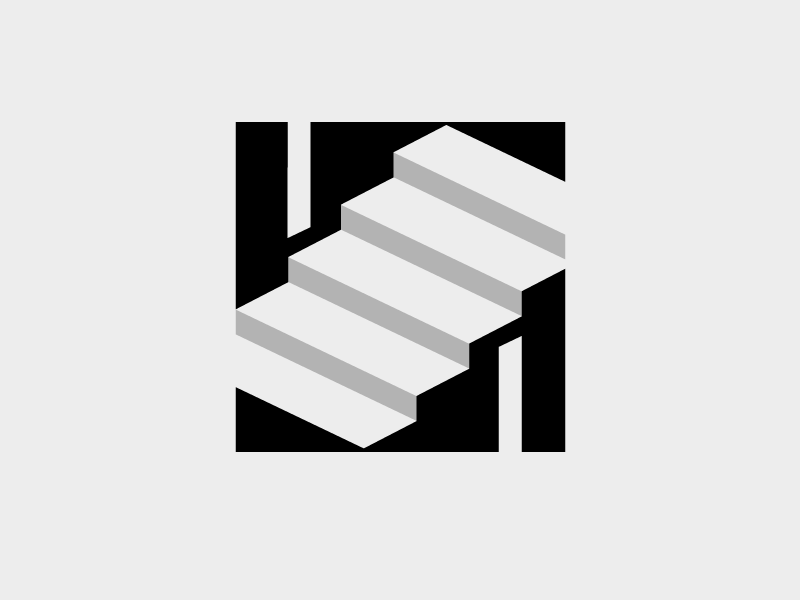 Slash Films Logo cel shading logocore slash vector illustrator illustration logotype typography mark graphic stairs stairway staircase brand concept design logo design branding identity logo