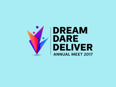 Dream Dare Deliver concept branding art direction illustration vector typography print design abstract logo design graphic design