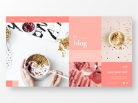 Landing Page for Personal Blog