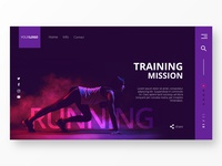Running & Training Home Page Design