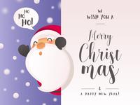 Christmas Card with Santa Character