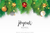 Christmas Card with Ornaments