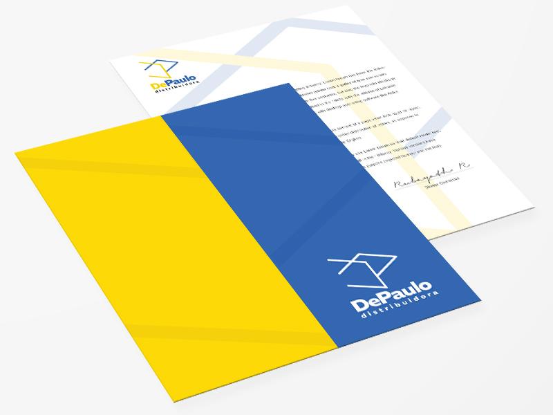 DePaulo - Folder logo design graphic design folder design paper