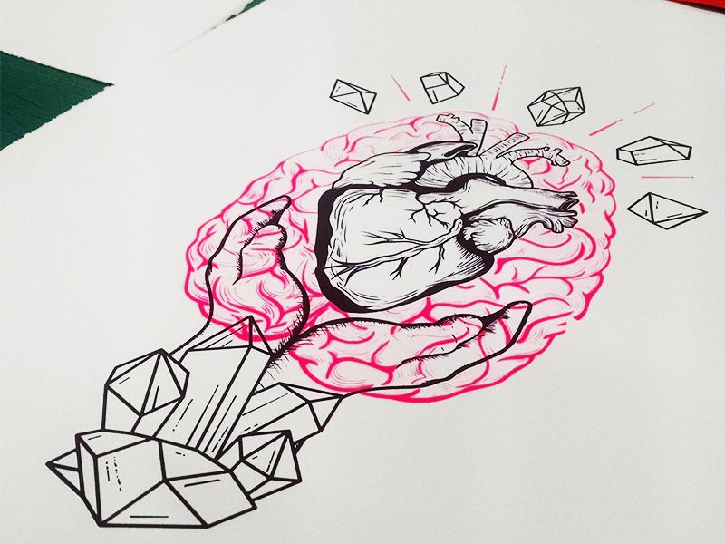 Irish Heart Foundation - illustration paper design serigraphy illustration