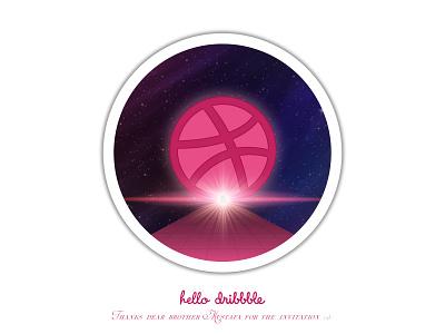 Hello Dribbble!! vector design welcome shot debut illustrator illstration