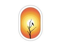 Bird & Burning Sun