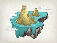 8 bits floating Island