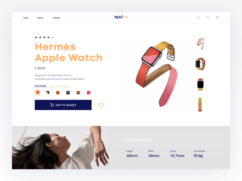 Watch Ecommerce: Product Card