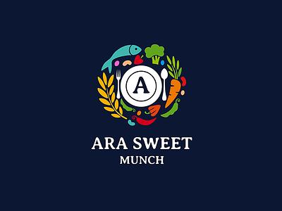 Ara Sweet Munch Brand Identity vector icon logo sweet food