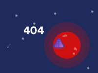 """404 page. """"Landed wrong planet"""" concept"""