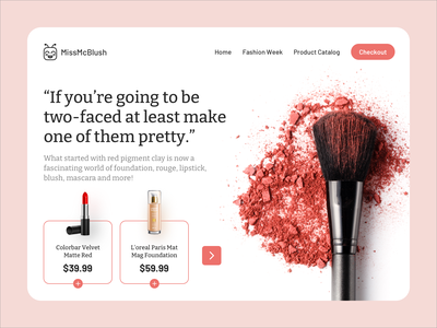 Makeup E-Commerce Store creative  design online store online shopping ecommerce ecommerce website landing page concept ux ui design ui landing page design webdesign website design web design visual design creative clean ui landing page ui ecommerce shop ecommerce design landing page