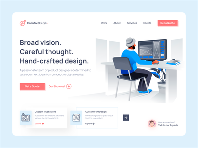 Product Design Studio ui design uiux user experience user inteface clean cards ui web app web website concept product design web design agency website design web design website illustration hero banner header design landing page ui landing page design landing page