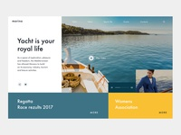 Slider Сoncept for the Yacht Club
