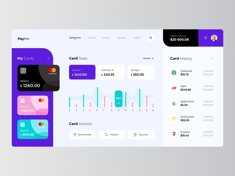 Credit Card Banking card banking creditcard design ux ui slider hero
