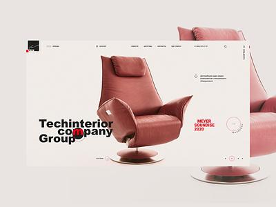 Techinterior light. minimal branding adobe xd web ui ux designs photoshop shot design