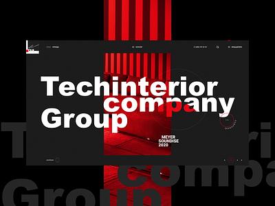 Techinterior dark. minimal branding adobe xd web ui ux designs photoshop shot design