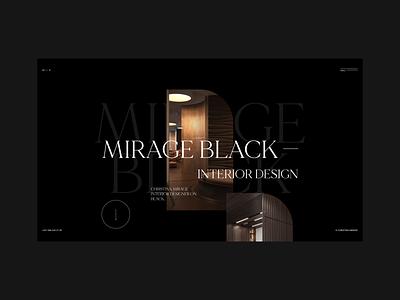 Mirage minimal website adobe xd web ux ui photoshop designs shot design