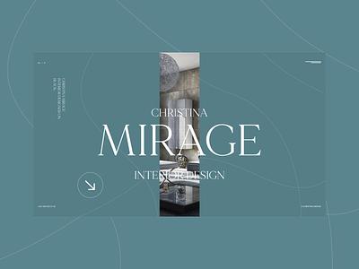 Christina Mirage branding minimal adobe xd animation ux ui web photoshop designs design