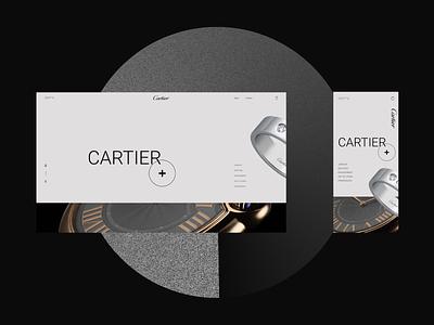 Cartier minimal branding adobe xd web ui ux photoshop designs shot design