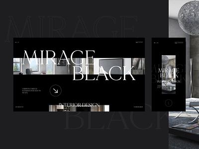 Mirage interior minimal branding website adobe xd web ui ux designs shot design