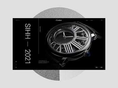 Cartier Card photoshop minimal branding adobe xd web ui ux designs shot design