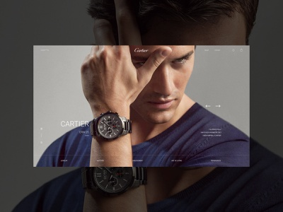 Cartier afte effects minimal adobe xd web ui ux photoshop designs shot design