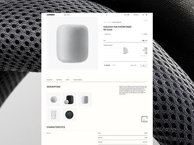Kanek photoshop minimal website adobe xd web ui ux designs shot design