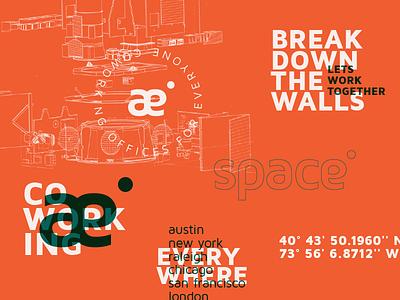 Space - CoWorking office coworking logo thirtylogos el salvador branding