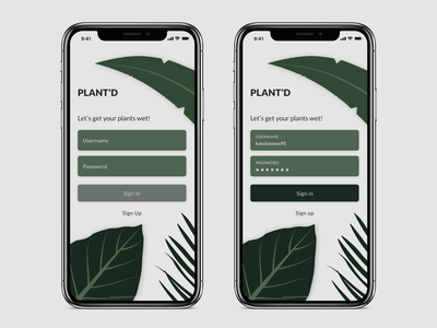 App Sign In Concept active state ux ui branding form fields button states illustration iphone x sign in app