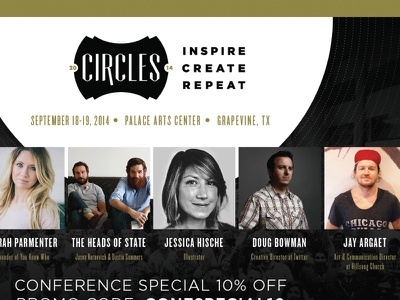 Circles Flyer 2014 flyer gold black white grey conference shapes