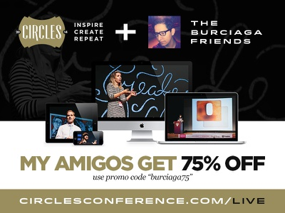 Friends Announcement Email Header gold tan black white computers